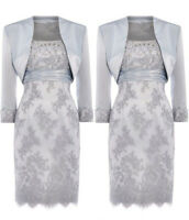 FREE Jacket Mother of the Bride Dress Knee Length Wedding Party Mum Gown Outsuit