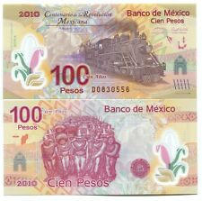 MEXICO 100 PESOS 2007 2010 P-128 UNC COMMEMORATIVE POLYMER