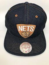 Mitchell and Ness Adults Unisex Nets Basketball Snapback EU786 BRONET