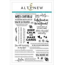 AlteNEW Crafty Friends Ink Stamp SET clear KEEP CALM & MAKE CARDS x39 RRP £22.99