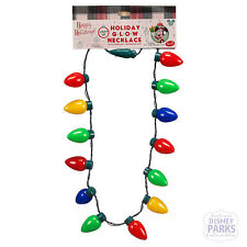 Disney Parks Light-Up Retro Christmas Bulbs Holiday Lanyard Necklace