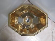 """Antique gold painted ceramic sink basin powder room Made in Italy """"Giorgio"""""""