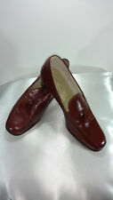 Womens Foot-so- Port Stepettes Pumps Size 8 B  Tassles Vintage Burgundy Leather