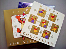 20  Winnie the Pooh and Tigger Christmas Cards for London Disney Store