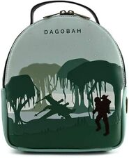 More details for loungefly star wars dagobah convertible mini backpack & pouch
