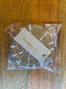 Bloomingville Woven Seagrass Coasters SET OF 4 NEW NATURAL
