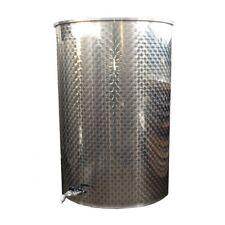 Serbatoio-botte inox con coperchio parapolvere 500 lt