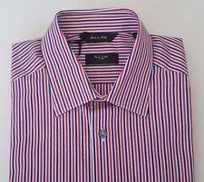 Paul Smith Shirt Size 15.5 MEDIUM The Bryard Navy Red Multi Stripes