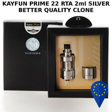 KAYFUN PRIME 22 RTA 2ml SILVER FLAVOUR CHASING TIRO DI GUANCIA MTL CLONE 1:1