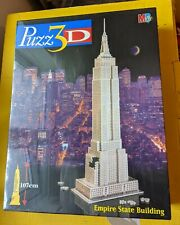 Rare Vintage MB Puzz3d Empire State Building Puzzle, 902 P, Brand New & Sealed