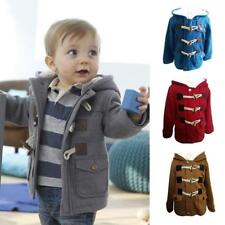 Newborn Toddler Baby Boys Winter Warm Coat Hooded Jacket Outerwear Clothes 9m-5y Gray 2-3t