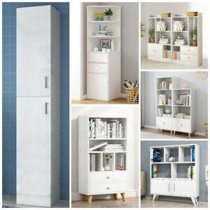 White Cubes Drawers Bookcase Bookshelf Kids Storage Shelves Unit Display Shelf