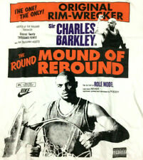 Nike Charles Barkley Poster T-Shirt Force Not Role Model All Over Logo Tee 2XL