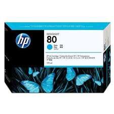 ORIGINALE HP NR 80 ciano C4872A Designjet 1000 1050C 1055CM MHD 09/16 NUOVO