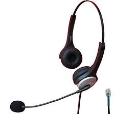 Voistek Call Center Telephone Headset with Noise Canceling Microphone for Aastra