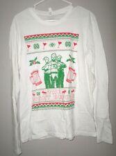 NIGHT BEFORE med T shirt longsleeves Christmas kitschy Joseph Gordon-Levitt tee