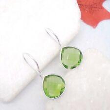 Peridot grün Tropfen Design Hänger Ohrringe Ohrhänger 925 Sterling Silber neu