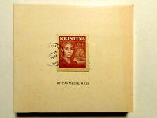 KRISTINA AT CARNEGIE HALL - 2  CD  -  NUOVO E SIGILLATO