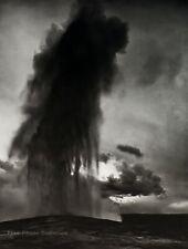 1942/72 Vintage ANSEL ADAMS Old Faithful Geyser Yellowstone Park Photo Art 11X14