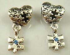 hot European Silver CZ Charm Beads Fit sterling 925 Necklace Bracelet Chain vf33