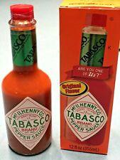 Tabasco Original Sauce, BIG BOTTLE Pepper, 12 Ounce 12 OZ NEW IN RETAIL BOX