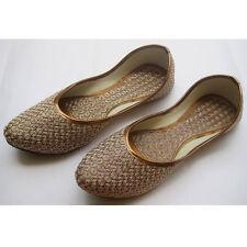 Punjabi jutti Indian Shoes flat flop Khussa Shoes casual shoe Mojari Jooti USA-6