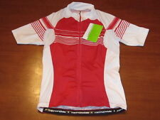 Nwt $120 Cannondale zip shirt Cycling Running Women's Red L.E. jersey S Small