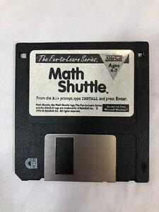 "VTG Math Shuttle 3.5"" Floppy Disk PC MS-DOS Ages 4-7"