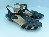 Women's Pikolinos Sandals Shoe Sz 41 EU/10-10.5 US Black Leather Strappy EUC