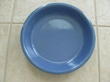 Vintage Blue Stoneware Pottery Pie Plate, Baking Dish Kitchen Collectible Nice!