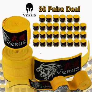 Verus Elastic Hand and Wrist Boxing Wraps 30 Yellow Pair's Lot Wholesale