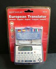 FRANKLIN EUROPEAN POCKET LANGUAGE TRANSLATOR TRA-118 * NEW IN BOX * RARE