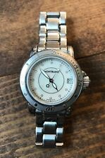 Montblanc 7036 Sports White MOP Dial Stainless Steel Ladies Sport Watch-Bracelet