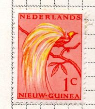 NETHERLANDS-new guinea; 1954 Bird of Paradise mounted mint *bl