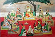 Sikhs Guru Nanak & Other 9 Gurus Bhai Puran Singh 1882  7x5 Inch New Print