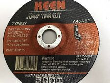 Box of 50- Raised Hub Slice-It Cut-Off Wheel 6 x .045 x 7/8 KEEN ABRASIVES 59129