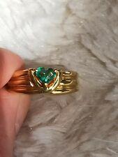 anello d'oro smeraldo a cuore 750 gold ring 18 kt heart Emerald smaragd 4,9g
