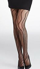 "HUE Tiger Net Tights Size S/M 5'3"" - 6' Black NWT"