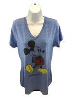 Disney Parks Women's Blue Walt Disney World Mickey Mouse T-Shirt Sz L