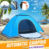 3-4 Person Outdoor Camping Waterproof Automatic Instant Pop Up Tent Picnic Blue