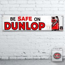 DUNLOP Pubblicità Banner -- Heavy Duty per officina, garage, L'UOMO GROTTA Retrò PNEUMATICI