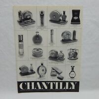 CHANTILLY PERFUM 1969 VINTAGE ADVERTISING MAGAZINE PAGE (#DEC69)