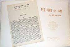 LA ROUTE DE LA SOIE : TISSUS DES HAN AUX TANG. catalogue, CHINE, ART asiatique