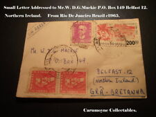 Small Letter to Mr.D.G.Mackie P.O.Box 149 Belfast Northern Ireland c1965 AH0412