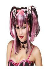 Black & Pink mal mal HADAS peluca de Halloween vestido elegante Horror Accesorio
