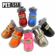 4Pcs/Set Small Dogs Cotton Winter Pet Dog Shoes Warm Snow Boots Waterproof Fur