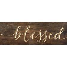 "BLESSED Carved Text Rustic Pine Plank Wooden Sign, 5.5"" x 15.75"""