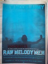 NEW MODEL ARMY Raw Melody Men 1991 UK Poster size Press ADVERT 16x12""