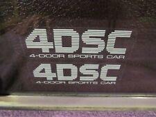 1989 Nissan Maxima 4DSC Four Door Sports Car Window Vinyl Decal Sticker Set 1990