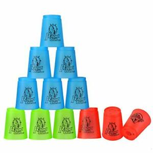 Quick Stacks cups, 12 Pc of Sports Stacking cups Speed Training game Multi-co...